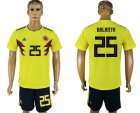 Cheap Colombia #25 E.Balanta Home Soccer Country Jersey
