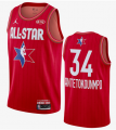 Cheap Men's Milwaukee Bucks #34 Giannis Antetokounmpo Red Jordan Brand 2020 All-Star Game Swingman Stitched NBA Jersey