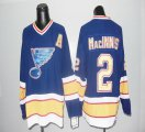 Cheap Blues CCM Throwback #2 Macinnis Blue Stitched NHL Jersey