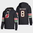 Cheap New Jersey Devils #8 Will Butcher Black adidas Lace-Up Pullover Hoodie