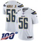 Cheap Nike Chargers #56 Kenneth Murray Jr White Youth Stitched NFL 100th Season Vapor Untouchable Limited Jersey