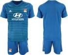 Cheap Lyon Blank Blue Goalkeeper Soccer Club Jersey