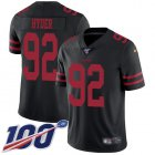 Cheap Nike 49ers #92 Kerry Hyder Black Alternate Youth Stitched NFL 100th Season Vapor Untouchable Limited Jersey