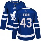 Cheap Adidas Maple Leafs #43 Nazem Kadri Blue Home Authentic Women's Stitched NHL Jersey