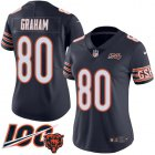 Cheap Nike Bears #80 Jimmy Graham Navy Blue Team Color Women's Stitched NFL 100th Season Vapor Untouchable Limited Jersey