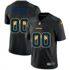 Cheap Los Angeles Chargers Custom Men's Nike Team Logo Dual Overlap Limited NFL Jersey Black