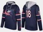 Cheap Blue Jackets #18 Pierre-Luc Dubois Navy Name And Number Hoodie