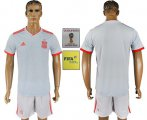 Cheap Spain Blank Away Soccer Country Jersey