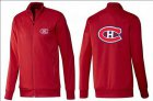 Cheap NHL Montreal Canadiens Zip Jackets Red