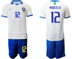 Cheap Brazil #12 Marcelo White Soccer Country Jersey