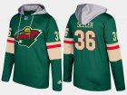 Cheap Wild #36 Nick Seeler Green Name And Number Hoodie