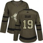 Cheap Adidas Coyotes #19 Shane Doan Green Salute to Service Women's Stitched NHL Jersey