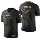 Cheap Men's Chicago Bears #33 Jaylon Johnson Black 2020 NFL Draft Golden Edition Jersey