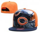 Cheap Bears Team Logo Orange Navy Adjustable Leather Hat TX