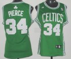 Cheap Boston Celtics #34 Paul Pierce White Green Womens Jersey