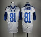 Cheap Lions #81 Calvin Johnson White 2012 Pro Bowl Stitched NFL Jersey