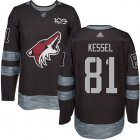 Cheap Adidas Coyotes #81 Phil Kessel Black 1917-2017 100th Anniversary Stitched NHL Jersey