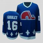 Cheap Nordiques #16 Michel Goulet Stitched CCM Throwback Blue NHL Jersey