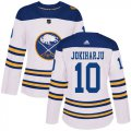 Cheap Adidas Sabres #9 Jack Eichel White Road Authentic Women's Stitched NHL Jersey