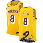Cheap Lakers 8 Kobe Bryant Yellow Nike R.I.P Swingman Fashion Jersey
