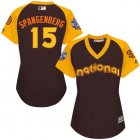 Cheap Padres #15 Cory Spangenberg Brown 2016 All-Star National League Women's Stitched MLB Jersey