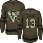 Cheap Adidas Penguins #13 Brandon Tanev Green Salute to Service Stitched NHL Jersey