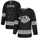 Cheap Adidas Predators #3 Steven Santini Black Authentic Team Logo Fashion Stitched NHL Jersey