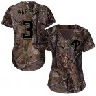 Cheap Phillies #3 Bryce Harper Camo Realtree Collection Cool Base Women's Stitched MLB Jersey
