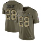 Cheap Nike Packers #28 AJ Dillon Olive/Camo Youth Stitched NFL Limited 2017 Salute To Service Jersey