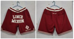 Cheap Lower Merion Aces 33 Kobe Bryant Red Just Don With Pocket High School Mesh Shorts