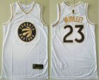 Cheap Men's Toronto Raptors #23 Fred VanVleet White Golden Nike Swingman Stitched NBA Jersey