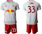 Cheap Red Bull #33 Long White Home Soccer Club Jersey