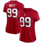 Cheap Houston Texans #99 J.J. Watt Nike Women's Team Player Name & Number T-Shirt Red