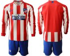 Cheap Atletico Madrid Blank Home Long Sleeves Soccer Club Jersey
