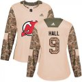 Cheap Adidas Devils #9 Taylor Hall Camo Authentic 2017 Veterans Day Women's Stitched NHL Jersey