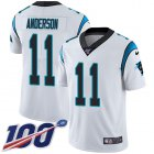Cheap Nike Panthers #11 Robby Anderson White Youth Stitched NFL 100th Season Vapor Untouchable Limited Jersey