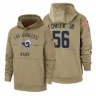 Cheap Los Angeles Rams #56 Dante Fowler Jr Nike Tan 2019 Salute To Service Name & Number Sideline Therma Pullover Hoodie