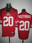 Cheap 49ers #20 Brian Westbrook Red Stitched NFL Jersey