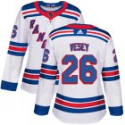 Cheap Adidas Rangers #26 Jimmy Vesey White Road Authentic Women's Stitched NHL Jersey