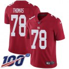 Cheap Nike Giants #78 Andrew Thomas Red Alternate Youth Stitched NFL 100th Season Vapor Untouchable Limited Jersey