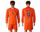 Cheap Holland #9 V.persie Home Long Sleeves Soccer Country Jersey
