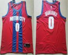Cheap Men's Detroit Pistons #0 Andre Drummond NEW Red 2020 City Edition NBA Swingman Jersey