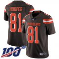 Cheap Nike Browns #81 Austin Hooper Brown Team Color Men's Stitched NFL 100th Season Vapor Untouchable Limited Jersey