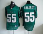 Cheap Eagles #55 Stewart Bradley Light Green Stitched NFL Jersey
