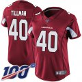 Cheap Nike Cardinals #40 Pat Tillman Red Team Color Women's Stitched NFL 100th Season Vapor Limited Jersey