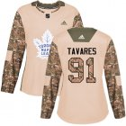 Cheap Adidas Maple Leafs #91 John Tavares Camo Authentic 2017 Veterans Day Women's Stitched NHL Jersey