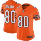Cheap Nike Bears #80 Jimmy Graham Orange Women's Stitched NFL Limited Rush Jersey