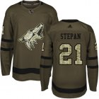 Cheap Adidas Coyotes #21 Derek Stepan Green Salute to Service Stitched Youth NHL Jersey
