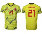 Cheap Colombia #21 Cardona Home Soccer Country Jersey