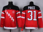 Cheap Team Canada #31 Carey Price Red 100th Anniversary Stitched Youth NHL Jersey